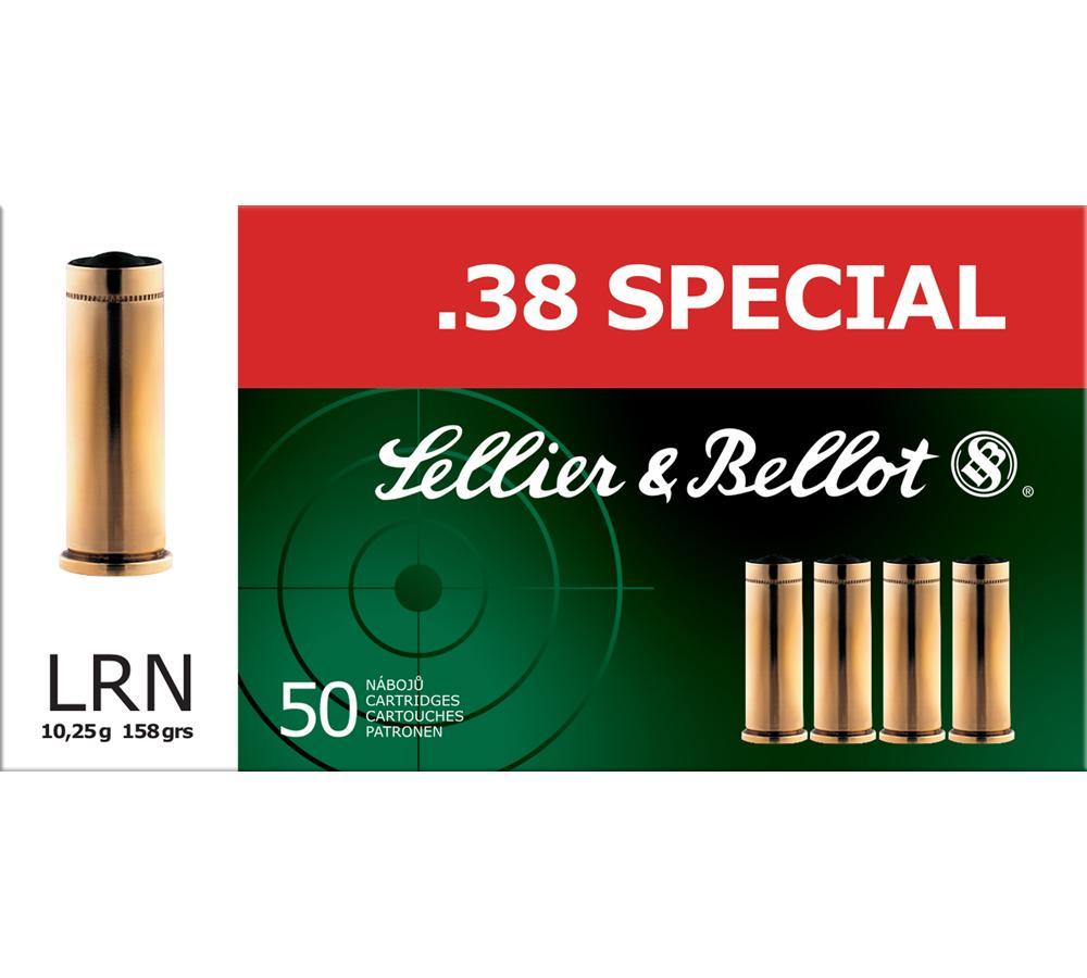Sellier & Bellot SB38A Handgun 38 Special 158 GR LRN 50 Bx| 20 Cs