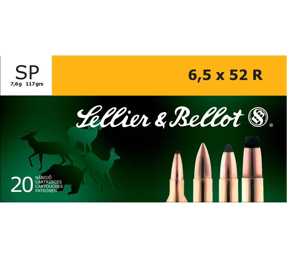 Sellier & Bellot SB6552RA Rifle 6.5X52mmR 117 GR Soft Point 20 Bx| 25 Cs