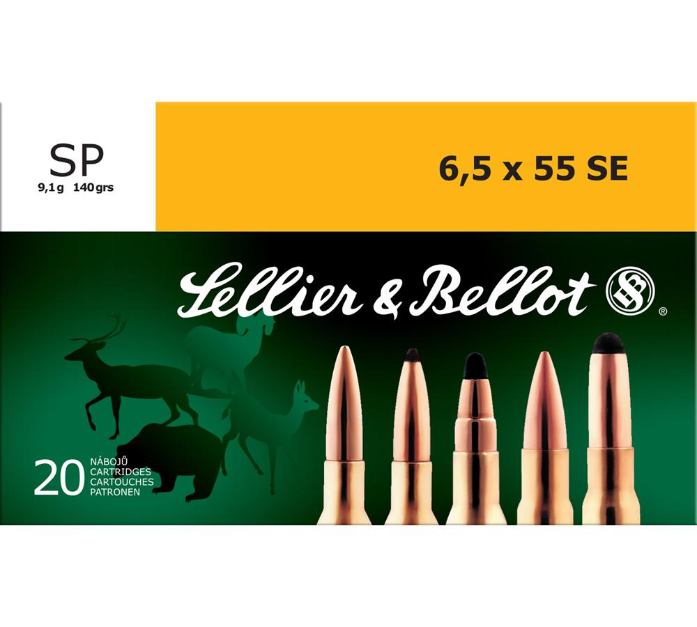 Sellier & Bellot SB6555B Rifle 6.5X55mm Swedish 140 GR Soft Point 20 Bx| 20 Cs