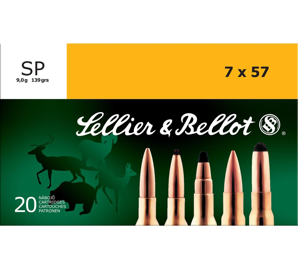 Sellier & Bellot SB757B Rifle 7X57mm Mauser 140 GR Soft Point 20 Bx| 20 Cs