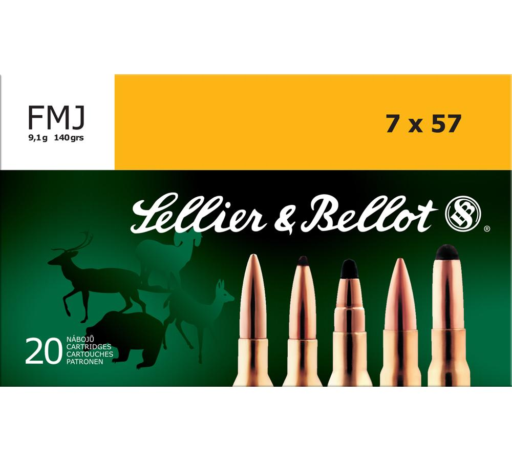 Sellier & Bellot SB757A Rifle Training 7X57mm Mauser 140 GR FMJ 20 Bx| 20 Cs