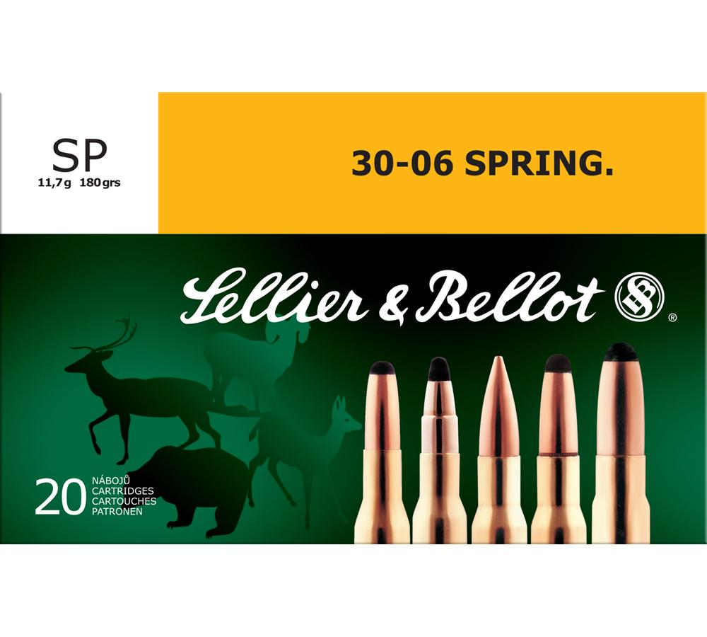 Sellier & Bellot SB3006B Rifle 30-06 Springfield 180 GR Soft Point 20 Bx| 20 Cs