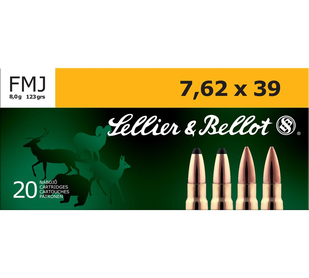 Sellier & Bellot SB76239A Rifle Training 7.62X39mm 123 GR FMJ 20 Bx| 30 Cs