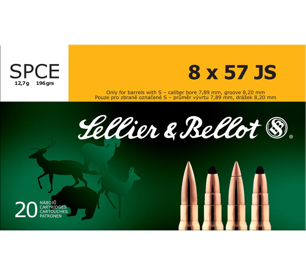 Sellier & Bellot SB857JSB Rifle Hunting 8X57mm JS 196 GR SPCE (Soft Point Cut-Through Edge) 20 Bx| 20 Cs