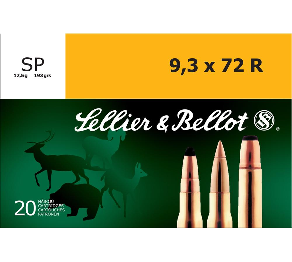 Sellier & Bellot SB9372RA Rifle 9.3mmX72R 193 GR Soft Point 20 Bx| 20 Cs