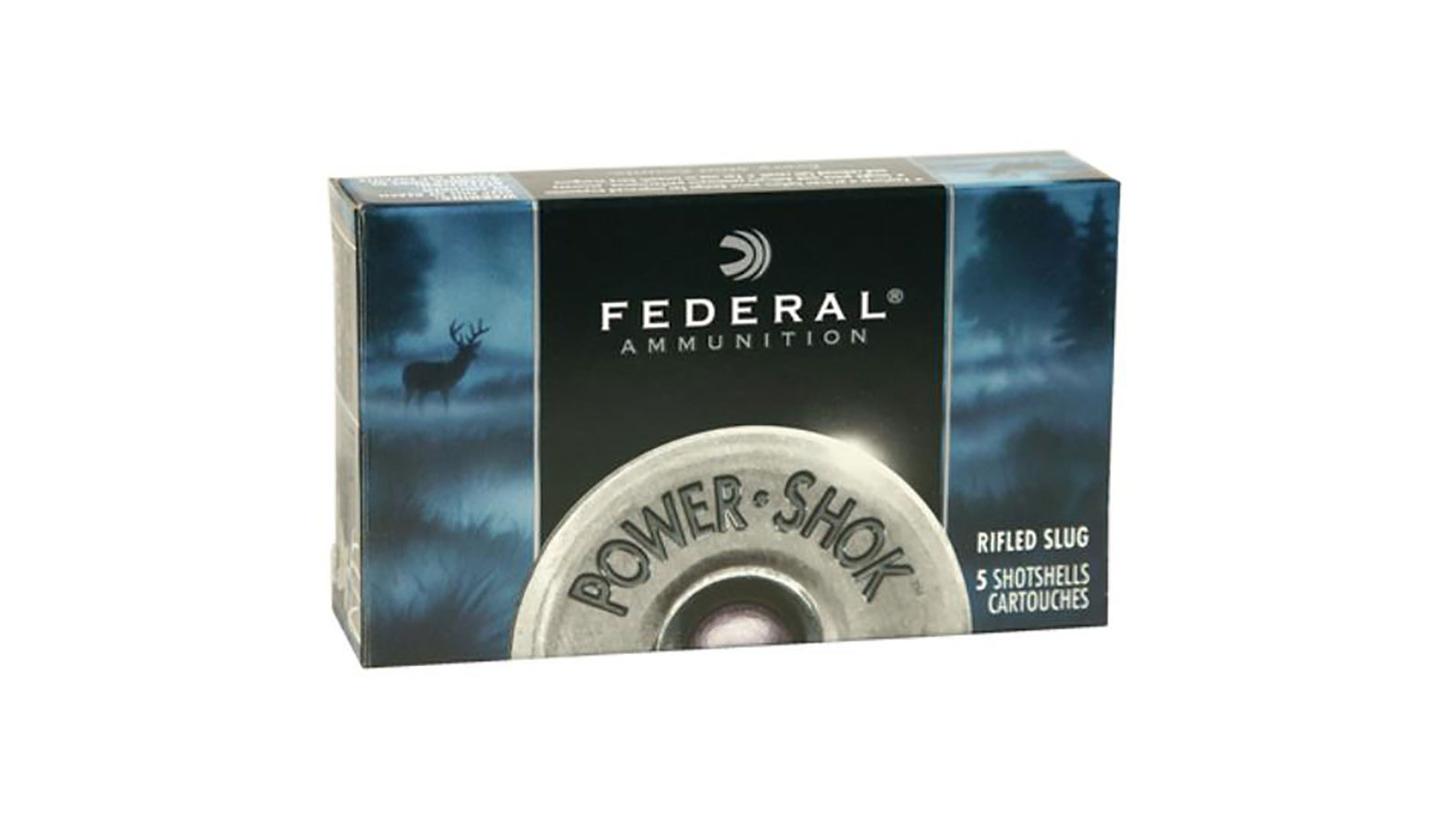 Federal F103FRS Power-Shok Rifled Slug 10 Gauge 3.5 1-3|4 oz Slug Shot 5 Bx| 50 Cs in.