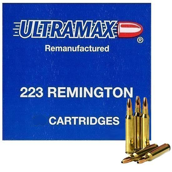 Ultramax 223R41 223 Remington Remanufactured 52 Grains, Jacketed Hollow Point, Per 20
