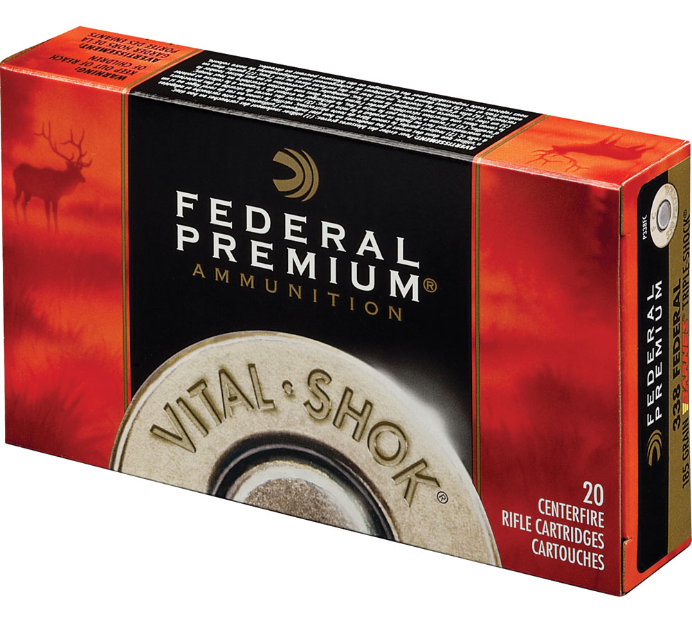 Federal P338TC1 Premium  338 Winchester Magnum 225 GR Trophy Copper 20 Bx| 10 Cs