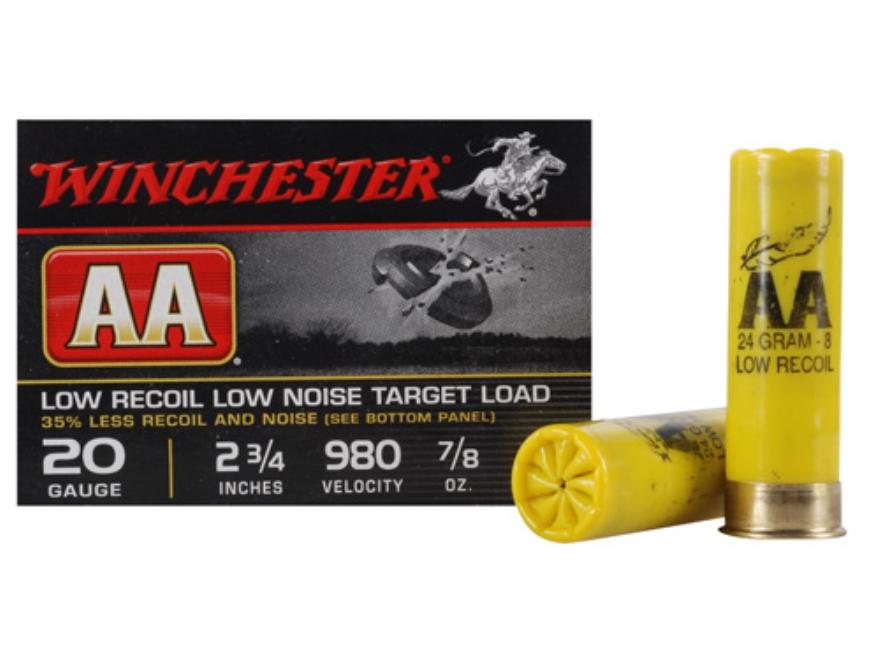 Winchester Ammo AA20FL8 Winlite Low Recoil Target 20 Gauge 2.75 in.  7|8 oz 8 Shot 25 Bx| 10 Cs