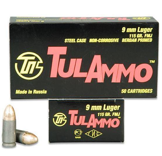 Tulammo TA919151 Centerfire Handgun 9mm 115 GR FMJ 900 Bx| 1 Cs