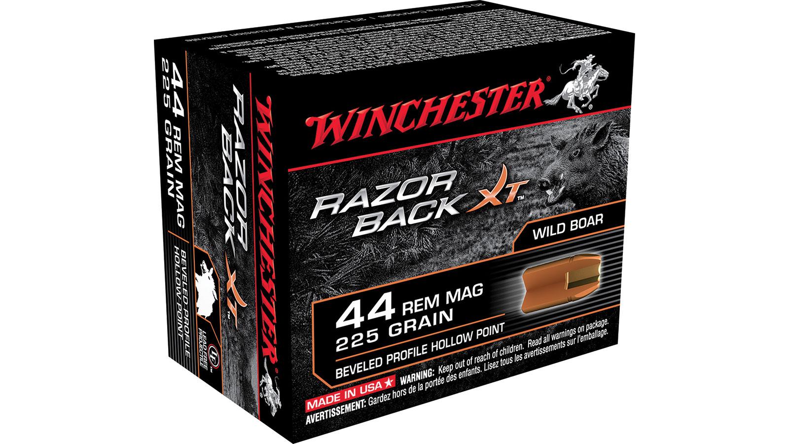 44 Mag - 225 Grain BPHP - Winchester Razorback - 20 Rounds