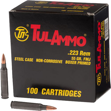 Tulammo TA223100 Centerfire Rifle 223 Rem|5.56 NATO 55 GR FMJ 100 Bx| 10 Cs