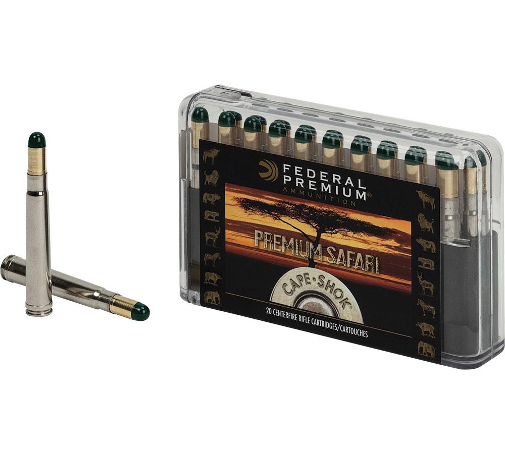 Federal P458WH Premium Safari Cape-Shok 458 Winchester Magnum 500 GR Woodleigh Hydro Solid 20 Bx| 10 Cs
