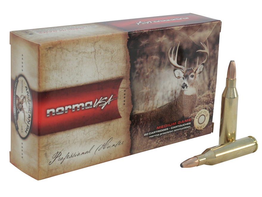 Norma Ammunition (RUAG) 20160332 American PH 243 Win 100 gr Oryx 20 Bx/ 10 Cs