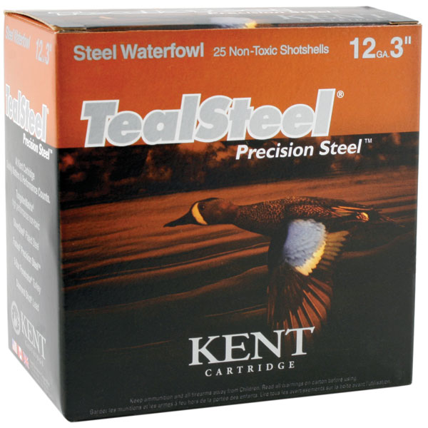 Kent Cartridge KTS123365 Teal Steel Waterfowl 12 Gauge 3 1-1/4 oz 5 Shot 25 Bx/ 10 Cs in.