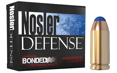 Nosler 39123 Performance Bonded 40 Smith & Wesson 200 GR JHP 20 Bx| 10 Cs