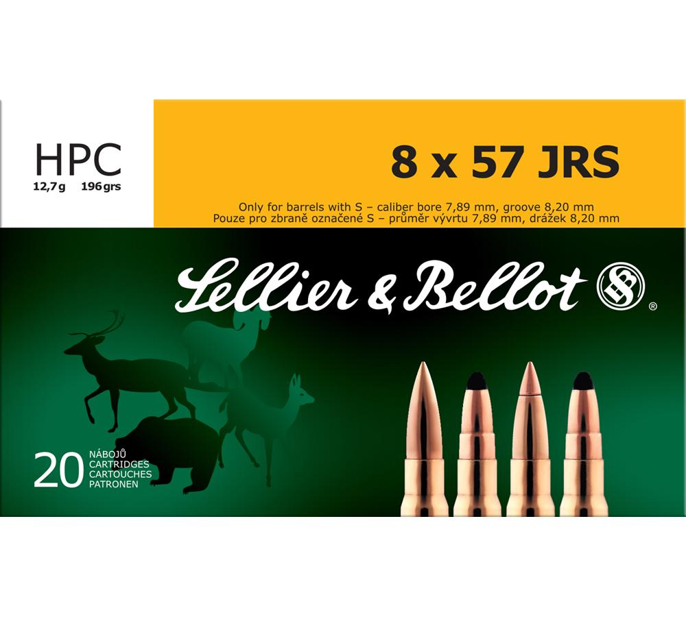 Sellier & Bellot V331912U Rimmed 8X57mm JRS HP Capped 196GR 20Bx|20Cs