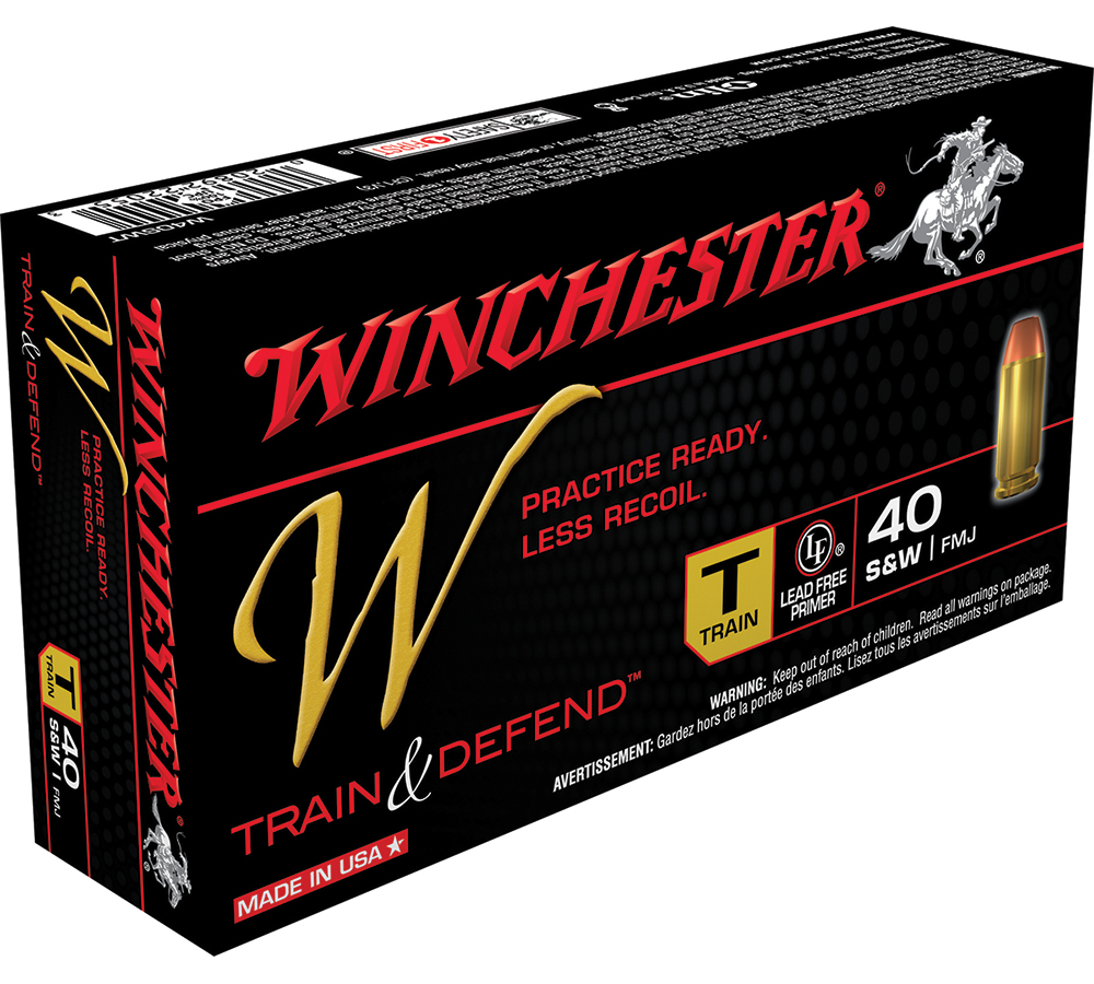 Winchester Ammo W40SWT W 40 Smith & Wesson 180 GR Full Metal Jacket 50 Bx| 10 Cs