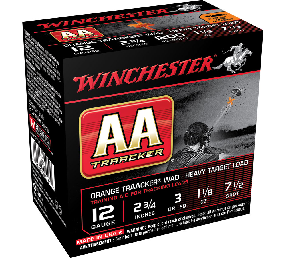 Winchester Ammo AAM127TO AA TrAAcker 12 Gauge Overcast Training Heavy 12 Gauge 2.75 1-1|8 oz 7.5 Shot 25 Bx| 10 Cs in.