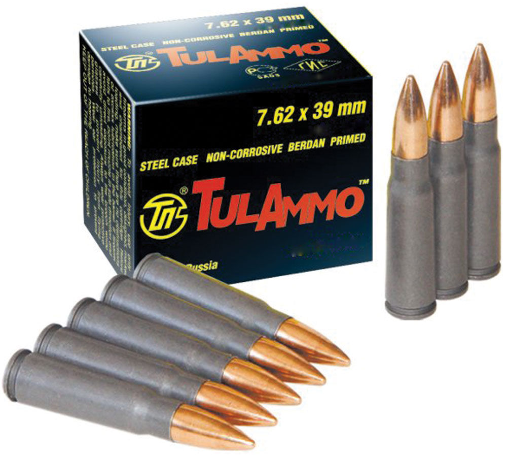 Tulammo UL076209 Centerfire Rifle 7.62X39mm 124 GR FMJ 40 Bx| 25 Cs
