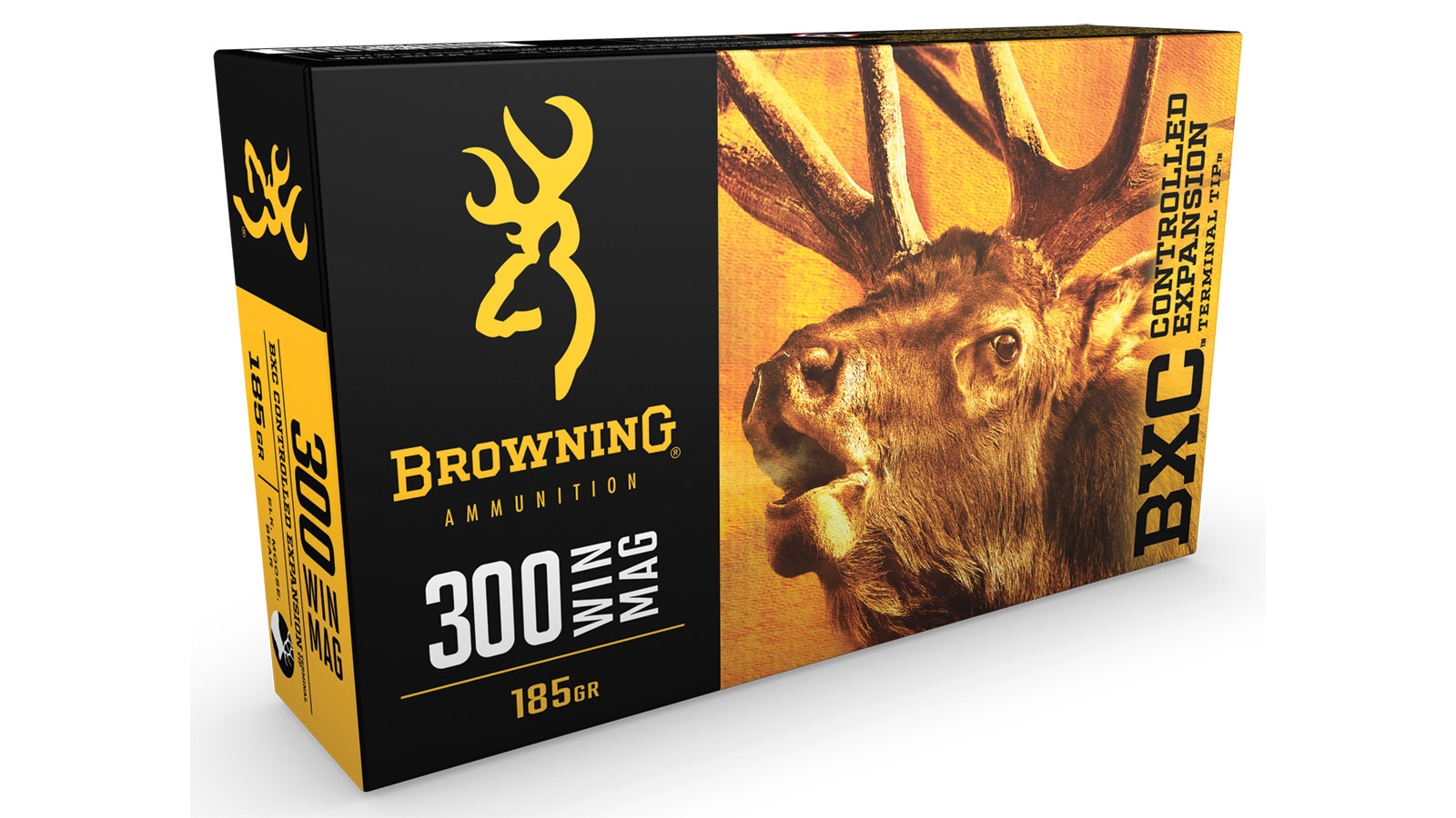 Browning Ammo B192203001 BXC Controlled Expansion 300 Win Mag 185 GR Terminal Tip 20 Bx| 10 Cs