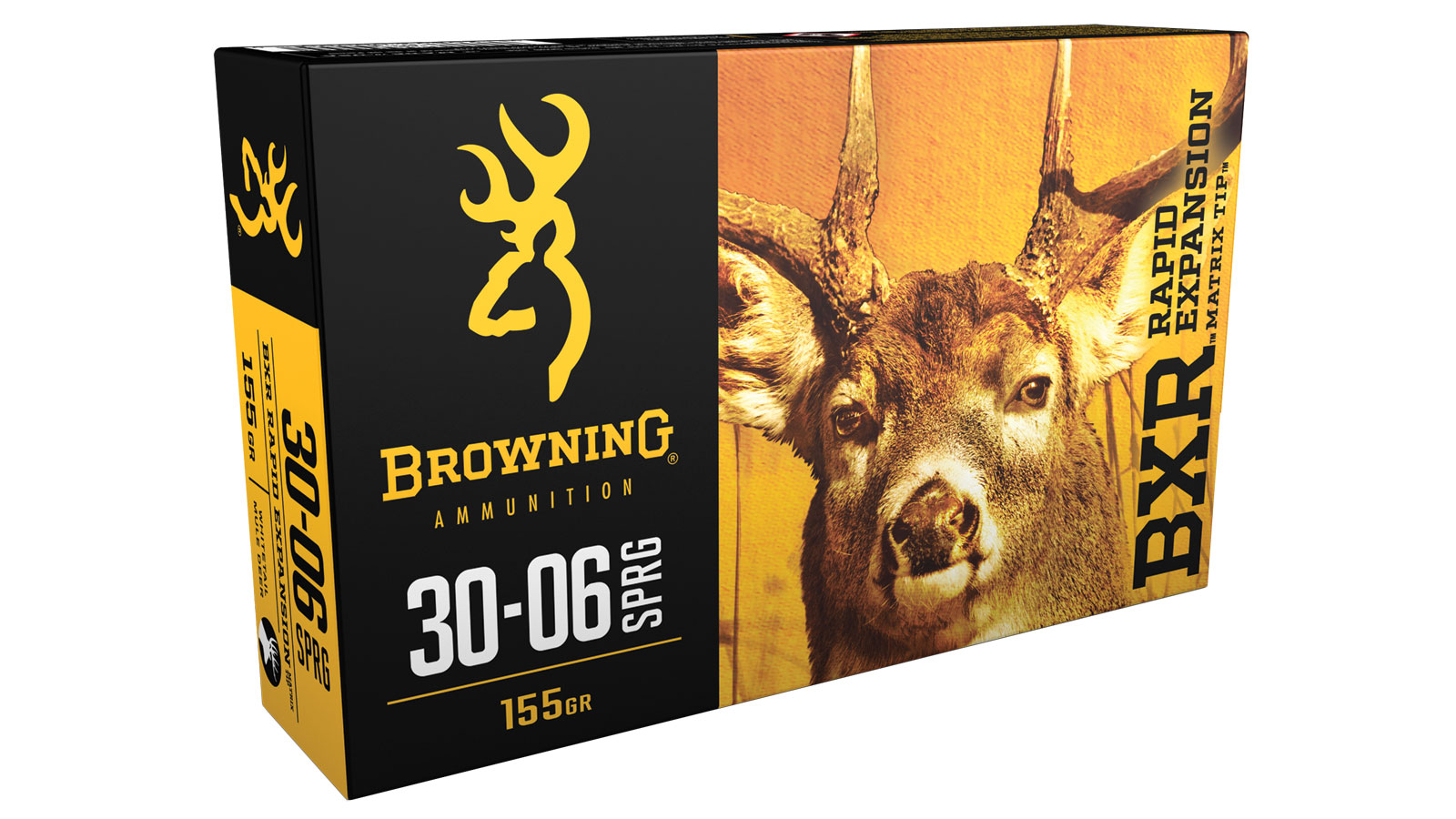 Browning Ammo B192130061 BXR Rapid Expansion 30-06 Springfield 155 GR Matrix Tip 20 Bx| 10 Cs