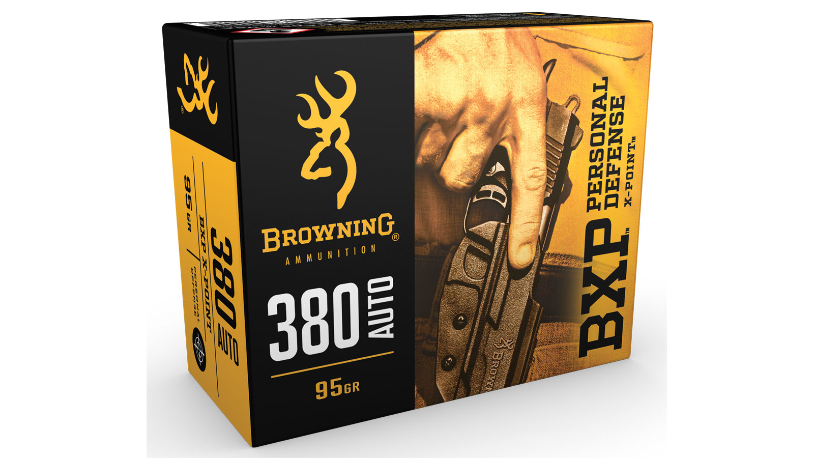 Browning Ammo B191703801 BXP X-Point 380 ACP 95 GR HP 20 Bx| 10 Cs
