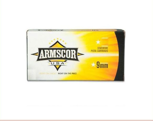 Armscor 9MM 147GR FMJ 50 ROUNDS