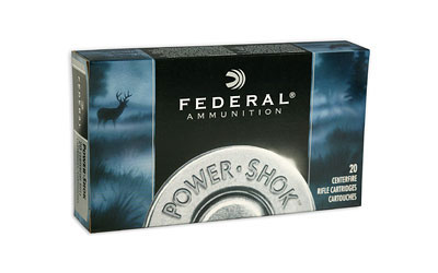 Federal 308150LFA Power-Shok Rifle 308 Winchester|7.62 NATO 150 GR Copper Hollow Point 20 Bx| 10 Cs