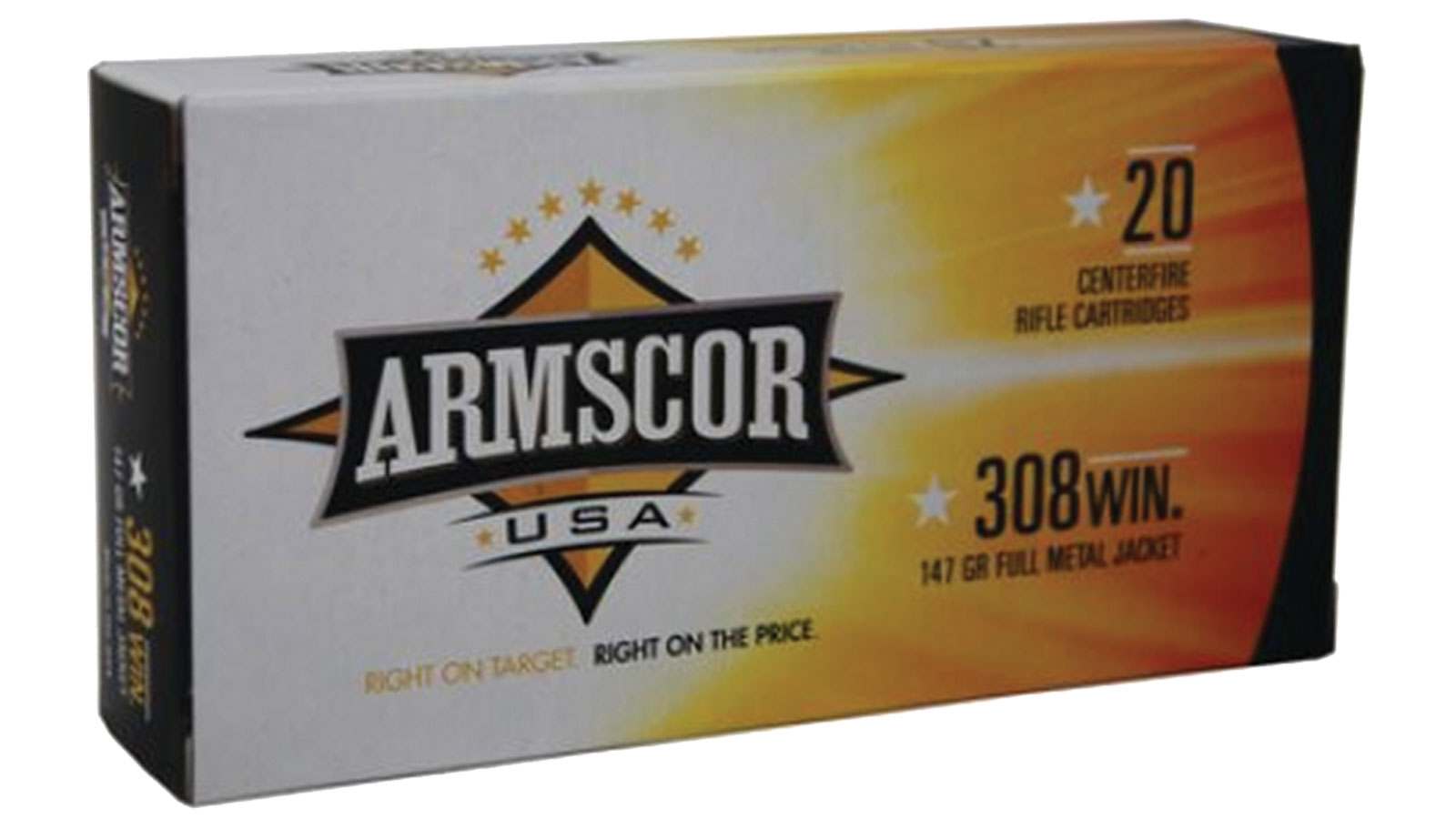 Armscor FMJ 147 Grain Brass .308 Win 20Rds