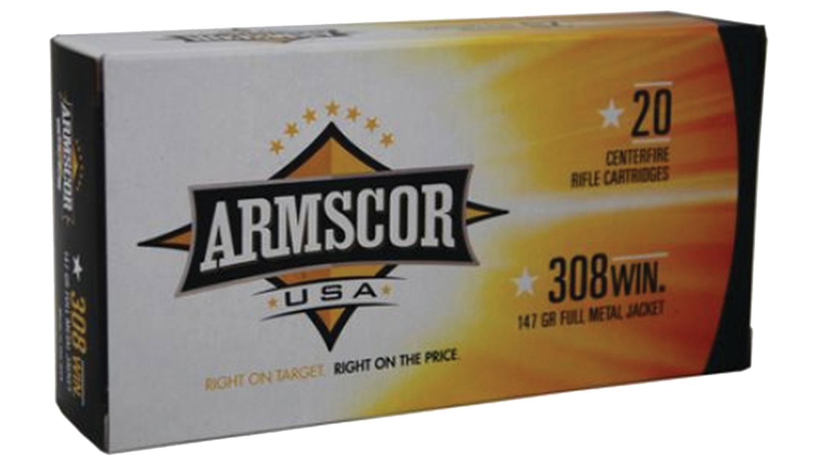 Armscor FMJ 147 Grain Brass .308 Win 20Rds