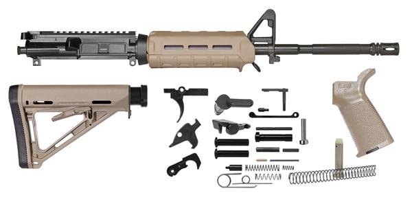 Del-Ton M4 Magpul M-LOK Rifle Kit Flat Dark Earth .223 | 5.56 NATO 16-inch Upper and Lower Parts Kit