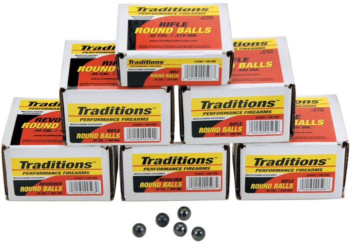 Traditions Muzzle RD Balls 36CAL 65GR
