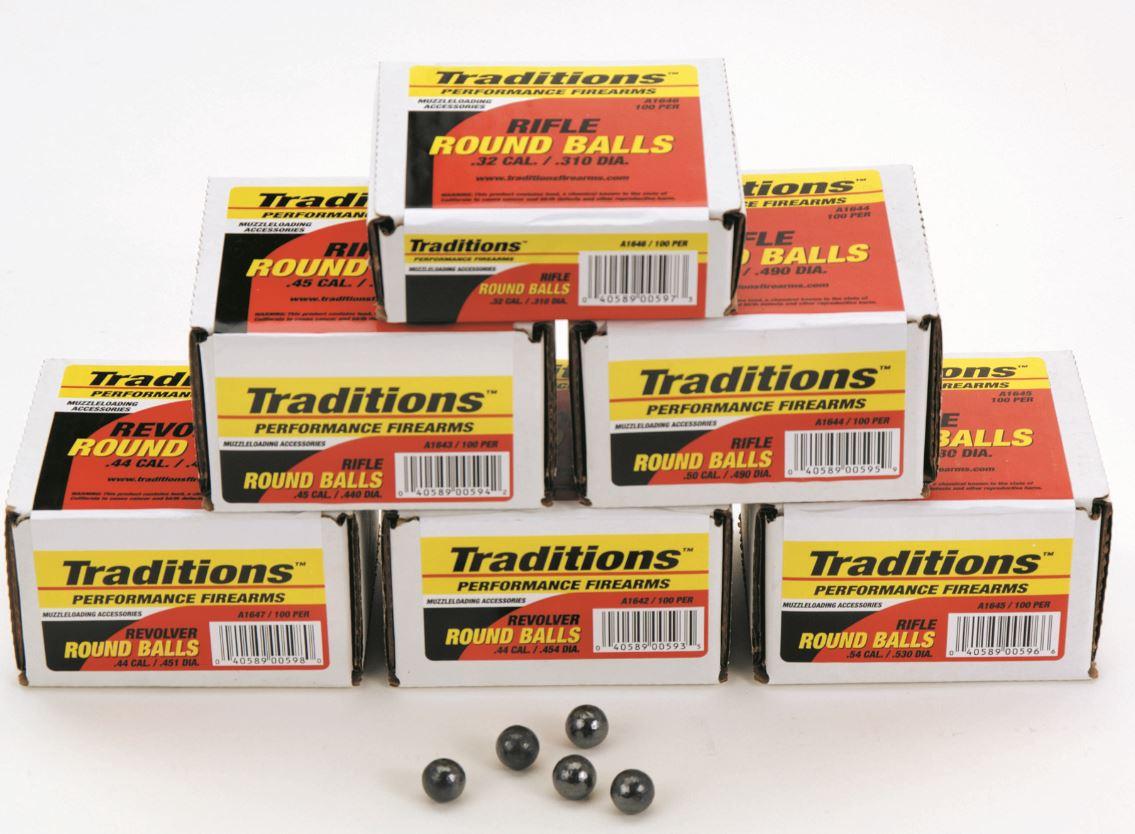 Traditions Revolver Round Balls .44