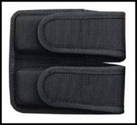Bianchi Model 7302H AccuMold Double Magazine Pouch, Kahr T40, Velcro, Black