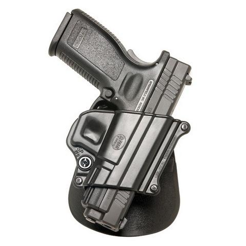 Fobus SP11BH Standard Belt RH Springfield XD|XD(M); HS 2000 9|40|357 Plastic Black