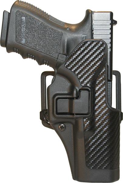 Blackhawk 410000BKL Serpa CQC Concealment LH Carbon-Fiber Finish Glock 17|22 Polymer Black