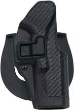 Blackhawk 410000BKR Serpa CQC Concealment Carbon-Fiber Glock 17|22|31 Polymer Black