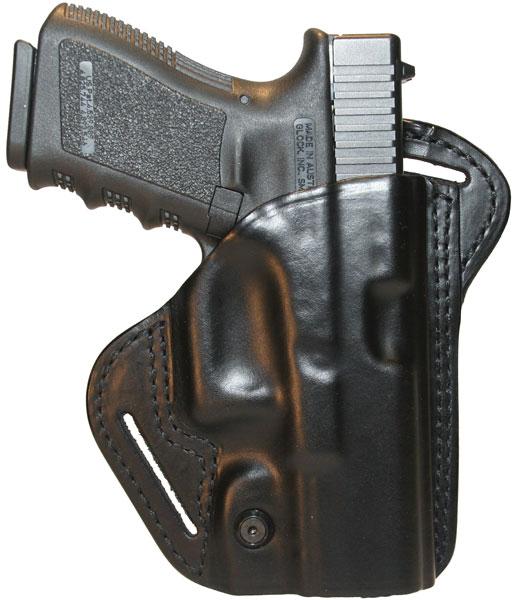 Blackhawk 420703BKR Check Six Holster Glock 17|19|22|23 Leather Black