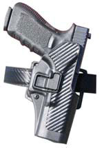 Blackhawk 44H100BKR Serpa Level 3 Auto Lock Duty Full Length Glock 17|19|22|23|31|32 Polymer Black
