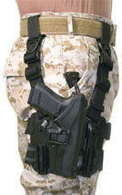 Blackhawk 430500BKR Serpa Level 2 Tactical RH Full Length Glock 9 40 Polymer Black