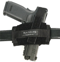 Blackhawk 40FB02BK Flat Belt Ambidextrous Holster 1000 Denier Cordura Nylon Black
