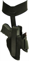 Blackhawk 40AH12BKR Ankle Holster RH Glock 26|27|33 & 9mm|40Cal 1000 Denier Cordura Nylon Black
