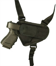 Blackhawk 40HS05BKMD Nylon Shoulder Holster Medium Universal Semi-Auto Handgun 1000 Denier Cordura Nylon Black