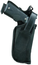 Blackhawk 40HT00BKR Hip Holster w|Thumb Break RH Size 0 Black Nylon