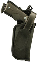 Blackhawk 40HT05BKR  Hip Holster w|Thumb Break RH Size 5 Black Nylon
