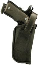Blackhawk 40HT19BKR  Hip Holster w|Thumb Break RH Size 19 1911 Govt|Browning Hi-Power Black Nylon