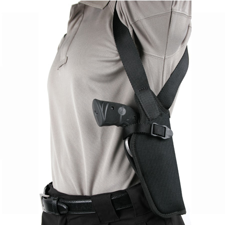 Blackhawk 40VH05BKR Vertical Shoulder Holster Adjustable 4.5-5 in.  Barrel Large Auto Cordura Black in.