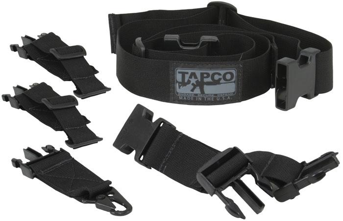 Tapco 16606 Intrafuse Adjustable Sling System 1.5 Mash Hook Swivel Nylon Black in.