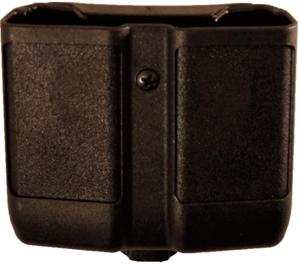 Blackhawk 410510PBK Double Magazine Case 9mm|40 Cal|45 Cal|357Sig Single Stack Black Synthetic